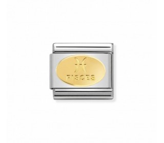 Link Acero y Oro Simbolo Piscis 030165 12