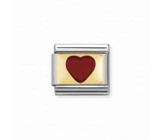 Link Corazón Rojo con Oro 030207 21
