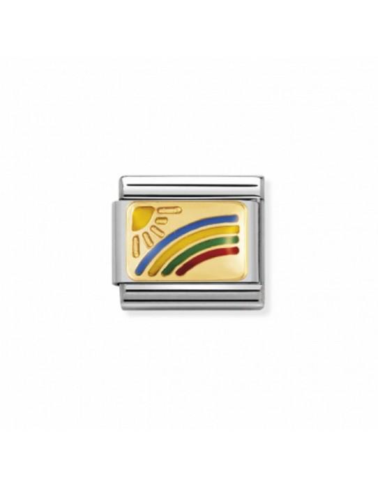 Link Acero, Esmalte y Oro Arcoiris 030208 01