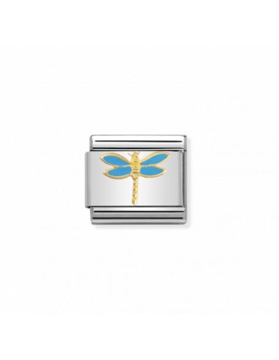 Link Acero y Oro Libelula Azul claro 030211 19