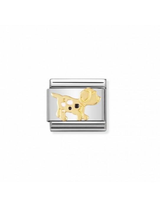 Link Acero y Oro Cachorro Esmalte 030212 36