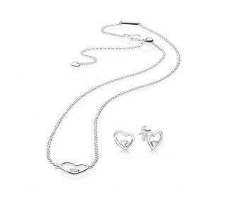 Conjunto de collar y pendientes Amor Asimetrico SET297813CZ