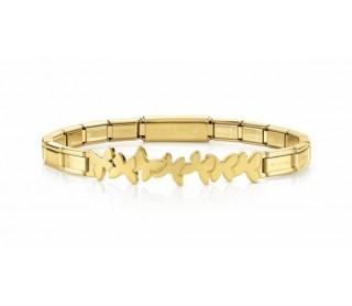 Pulsera Trendsetter acero dorado mariposas 021111 003