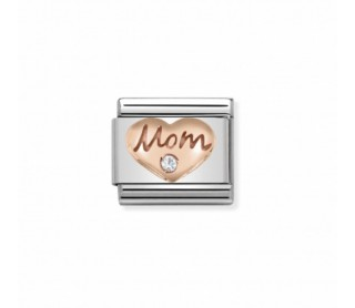 Link Classic Corazón de Mamá Oro Rosa 430305 09