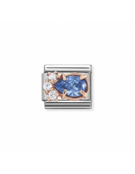 Link Classic Couture Gota Azul Oro Rosa 430309 04