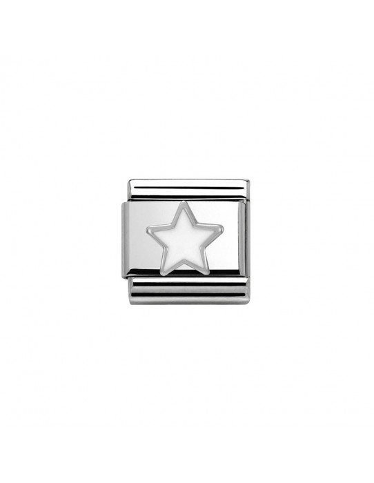 Link Nomination Acero y Plata Estrella blanca 330202 04