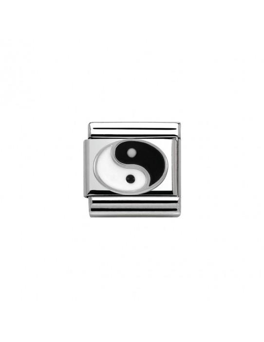 Link Nomination Acero y Plata Yin yang 330202 14