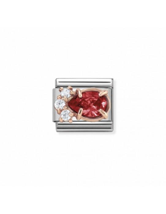 Link Nomination Classic Couture Gota Roja Oro Rosa 430309 02
