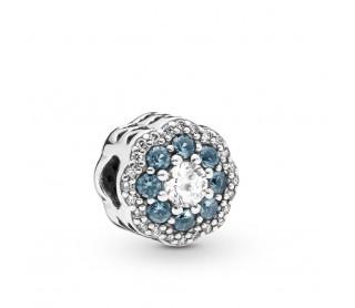 Charm Flor azul brillante...