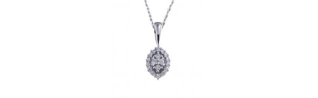 Colgante de diamantes